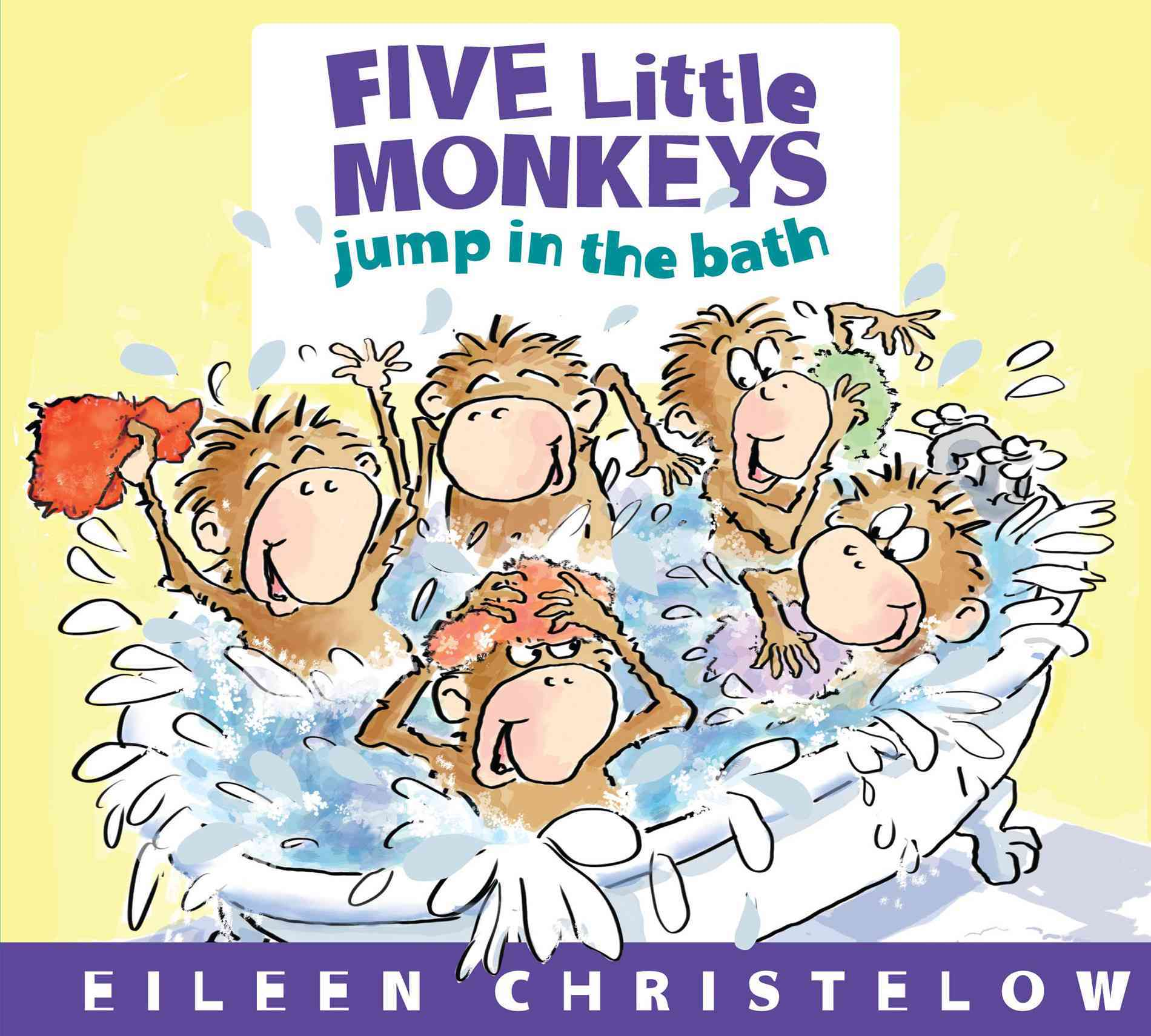 Five Little Monkeys Jump in the Bath By Christelow, Eileen